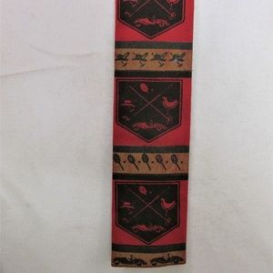 Vintage Rooster Flat/Square End Narrow Cotton Tie